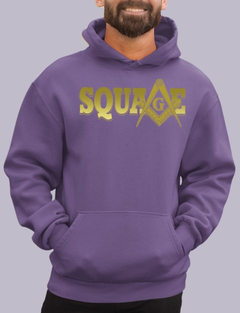 Square Masonic Hoodie square purple hoodie
