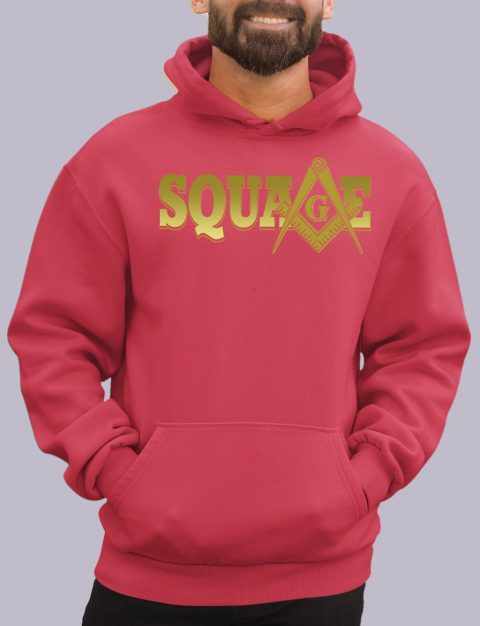 Square Masonic Hoodie square red hoodie