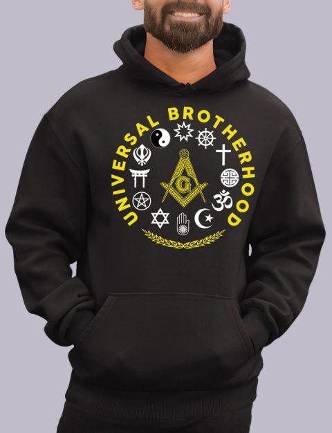 Universal Brotherhood Masonic Hoodie universal black hoodie 1
