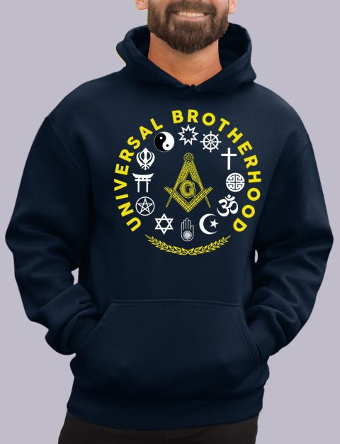 Wisdom Strength Beauty Past Master Masonic Hoodie universal navy hoodie