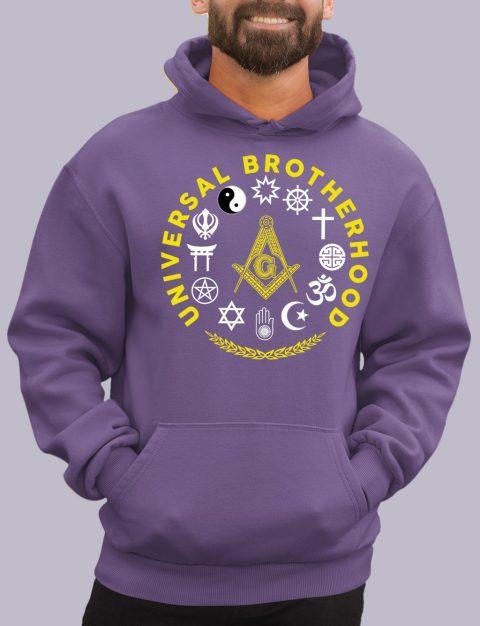Wisdom Strength Beauty Past Master Masonic Hoodie universal purple hoodie