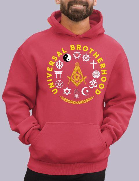 Wisdom Strength Beauty Past Master Masonic Hoodie universal red hoodie
