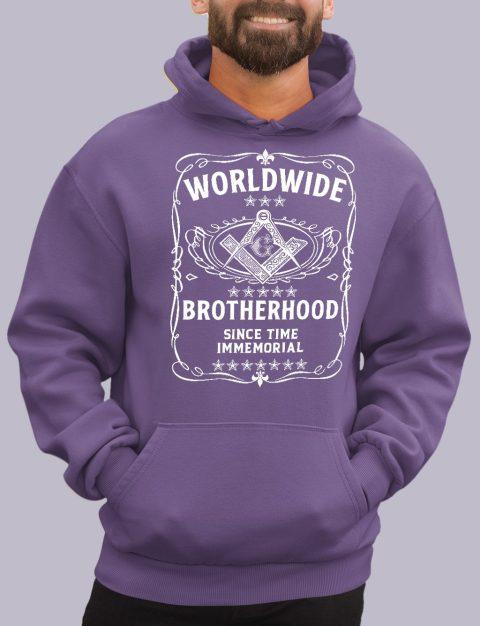 Worldwide Brotherhood Masonic Hoodie worldwide purple hoodie