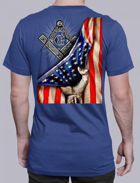 Masonic American Flag T-Shirt Masonic American Flag royal shirt back 6