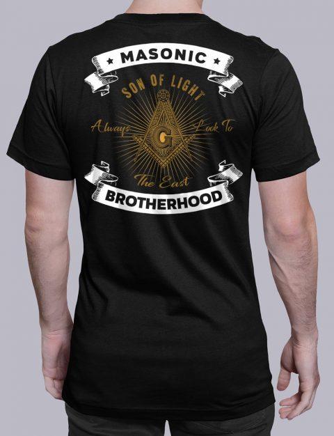 Masonic Brotherhood T-Shirt Masonic Brotherhood black shirt back 7