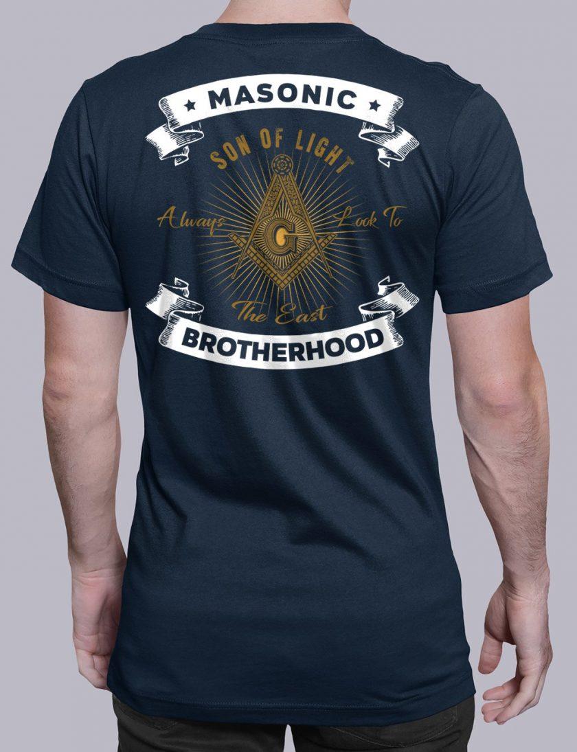 Masonic Brotherhood navy shirt back 7