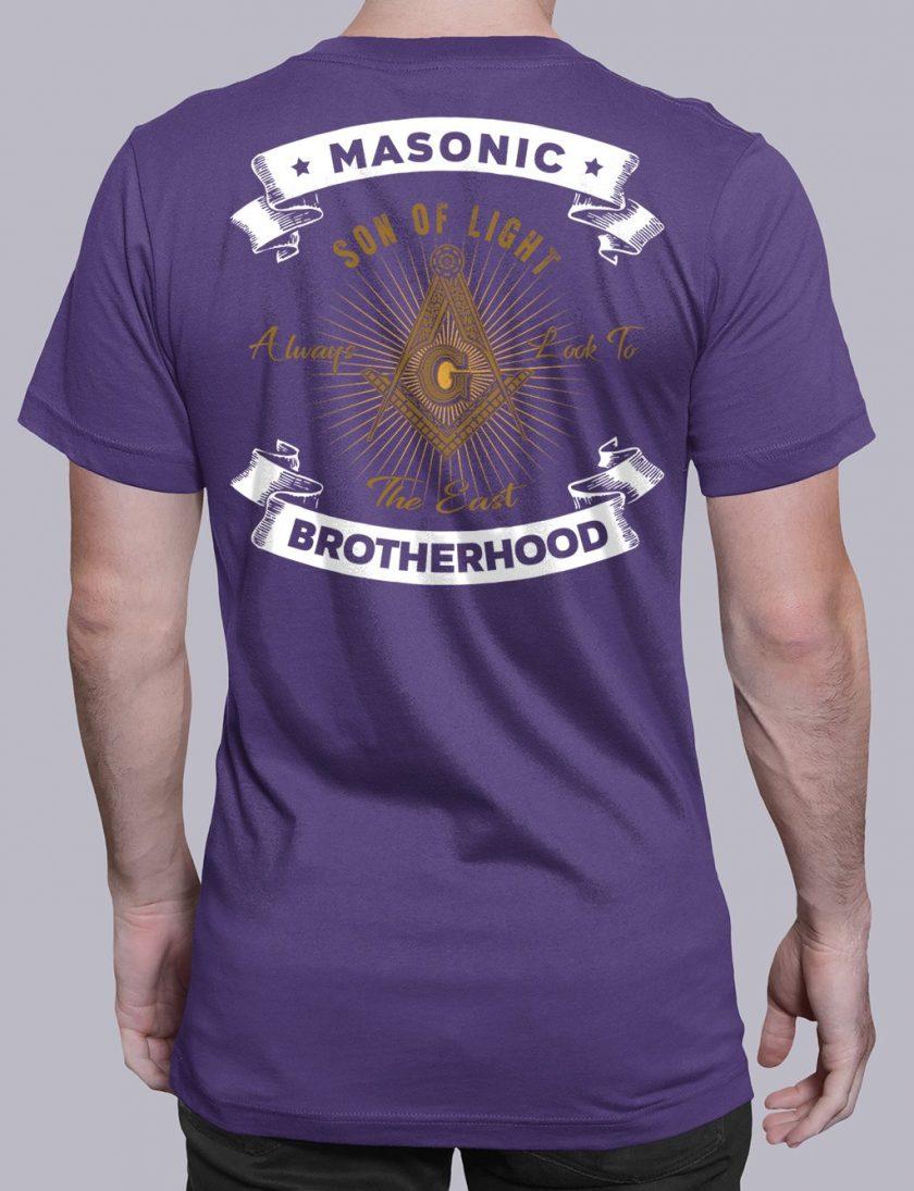 Masonic Brotherhood purple shirt back 7