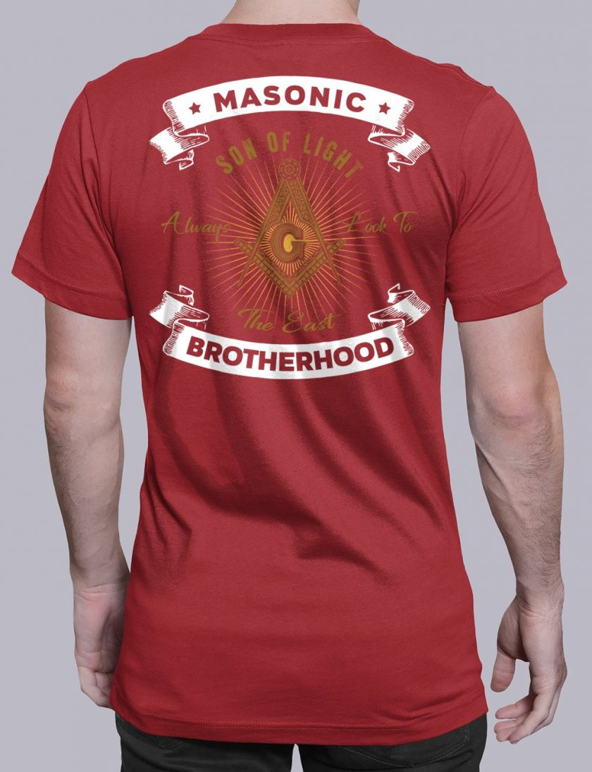 Masonic Brotherhood red shirt back 7