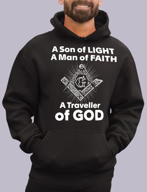A Son of Light Masonic Hoodie A son of light black hoodie