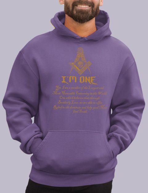 I Am One Masonic Masonic Hoodie i one purple hoodie