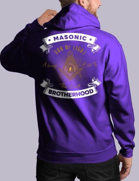 Masonic Brotherhood Masonic Hoodie masonic bros back purple hoodie 1