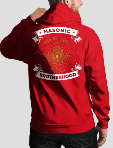 Masonic Brotherhood Masonic Hoodie masonic bros back red hoodie 1