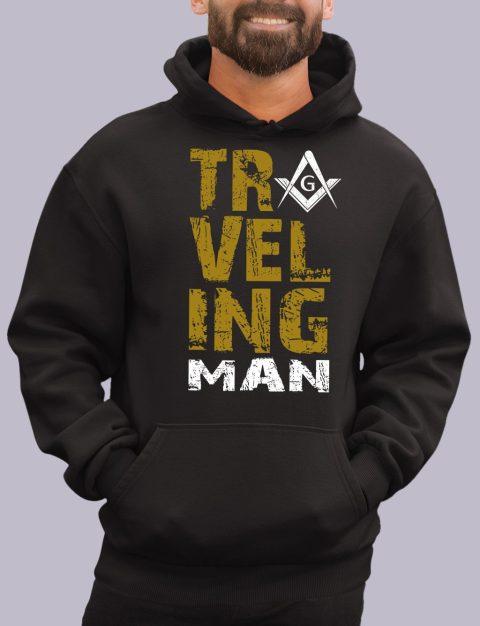 Traveling Man Masonic Hoodie New travel man black hoodie