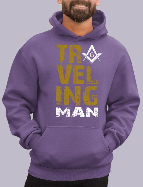 Traveling Man Masonic Hoodie New travel man purple hoodie