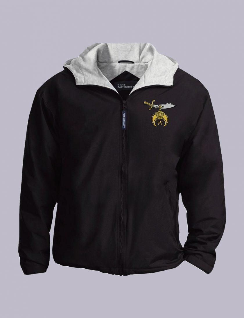 Shriner Embroidery Masonic Jacket black