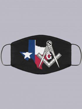 Home Texas masonic face mask