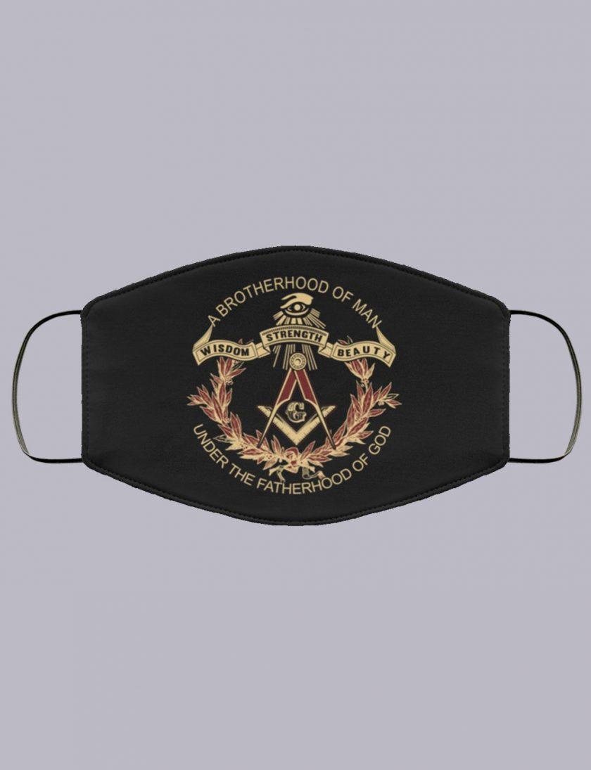 Brotherhood of Man Masonic Face Mask a brotherhood of man masonic face mask