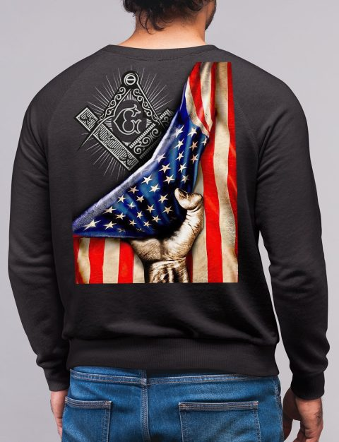 Masonic American Flag Sweatshirt american flag black sweatshirt
