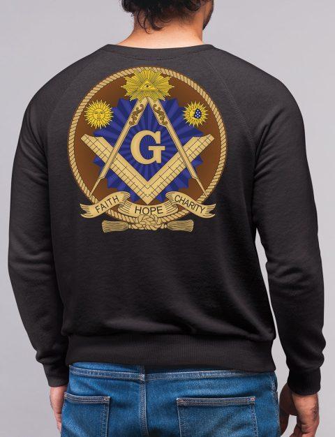Faith Hope and Charity Masonic Sweatshirt faith hope charity black sweatshirt