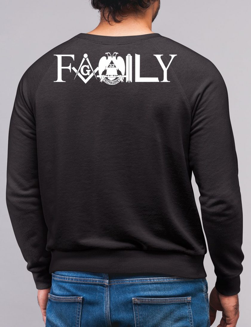 family back black sweatshirt