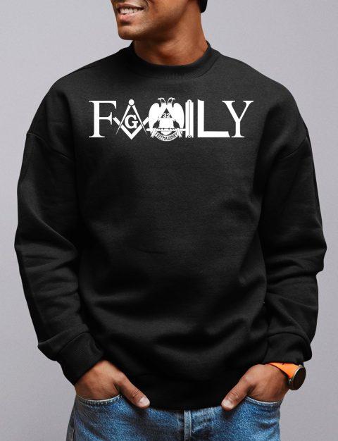 Family Masonic Sweatshirt family front black sweatshirt