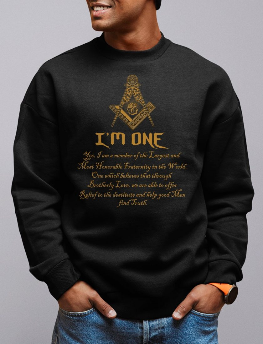 i am one black sweatshirt
