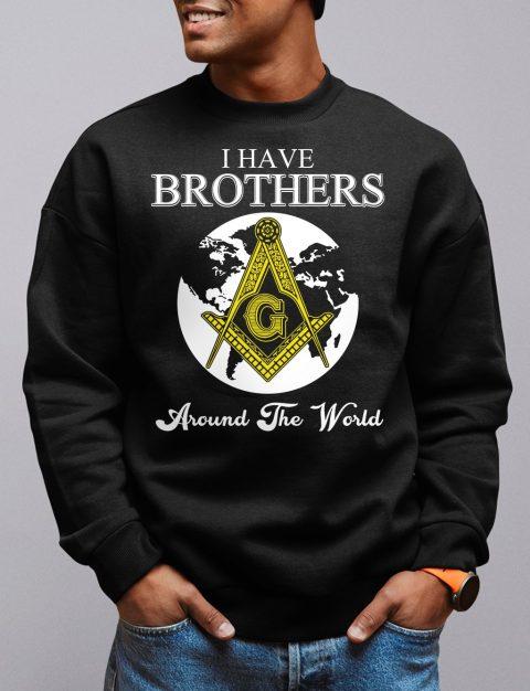 I Have Brothers Around The World Sweatshirt i have brothers black sweatshirt