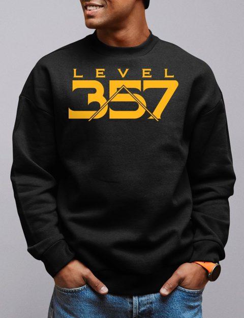 Level 357 Masonic Sweatshirt level 357 black sweatshirt