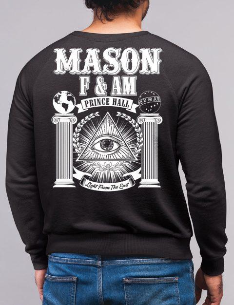 Prince Hall F&AM Masonic Sweatshirt mason fam black sweatshirt