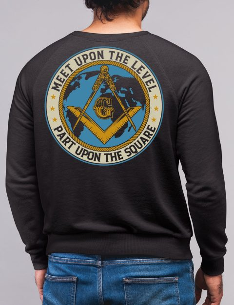 Meet Upon The Level Masonic Sweatshirt meet up black sweatshirt