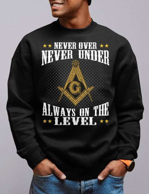 Never Over Never Under Sweatshirt never over black sweatshirt