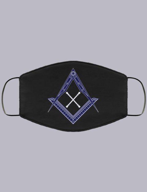 Marshal Baton Masonic Face Mask newsymbol