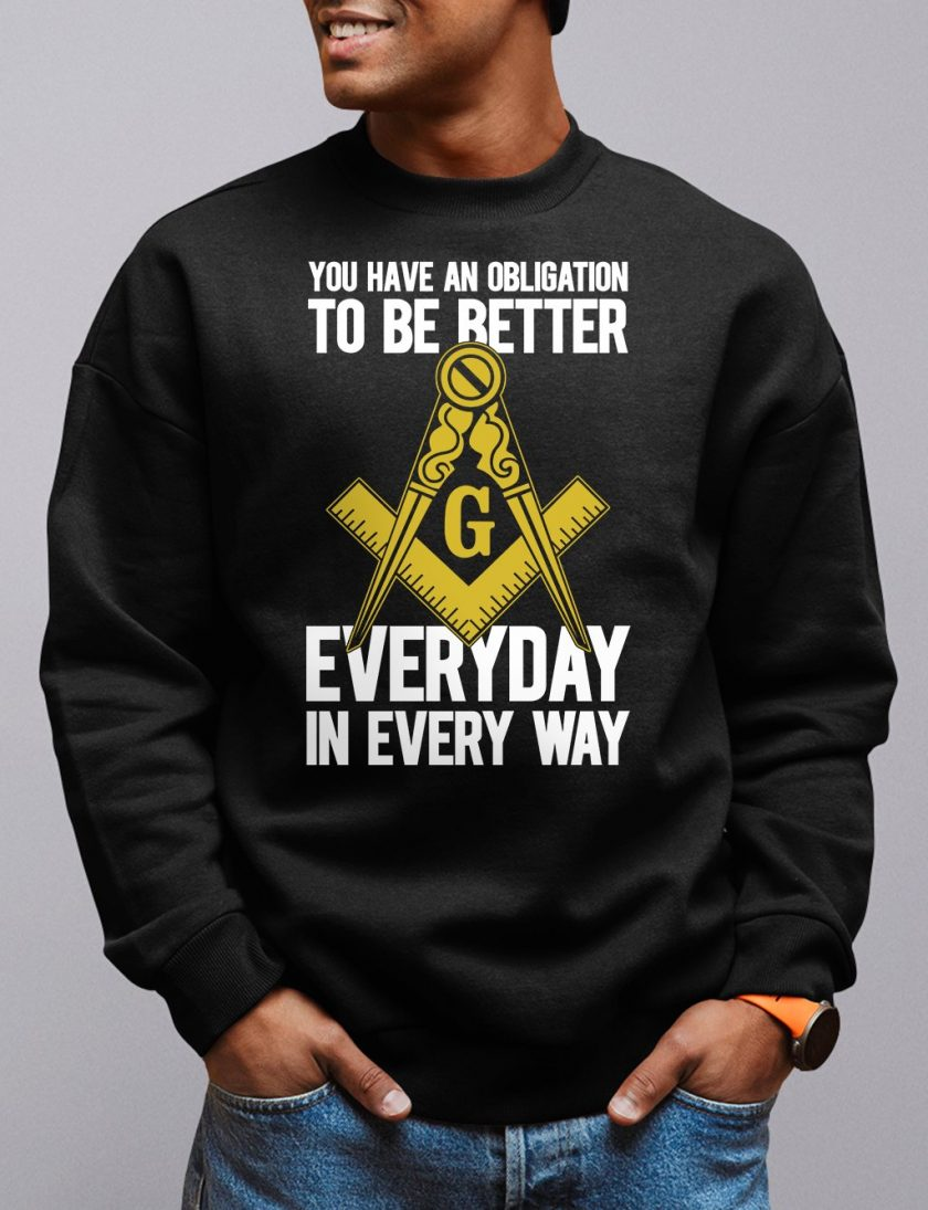obligation black sweatshirt