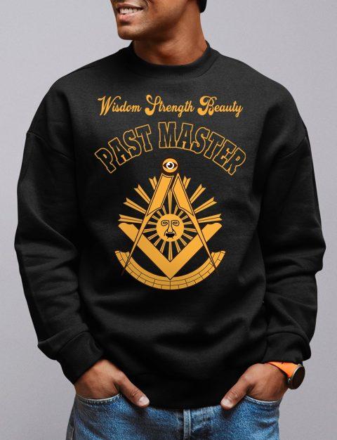 Wisdom Past Master Masonic Sweatshirt past master black sweatshirt