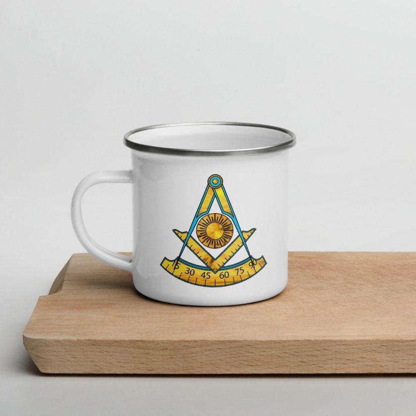past master enamel mug