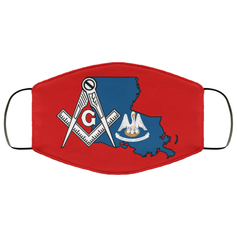 Louisiana Masonic Face Mask redirect 126