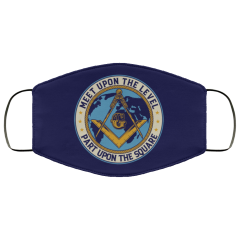 Meet Upon Level Masonic Face Mask redirect 462
