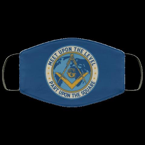 Meet Upon Level Masonic Face Mask redirect 468