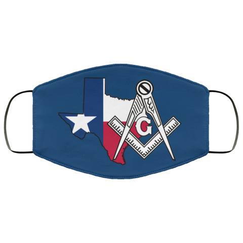 Texas Masonic Face Mask redirect 59