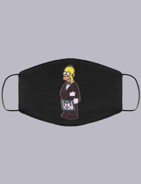 Simpsons Masonic Face Mask simsons