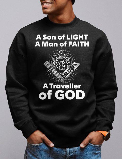 A Son of Light Sweatshirt son light black sweatshirt