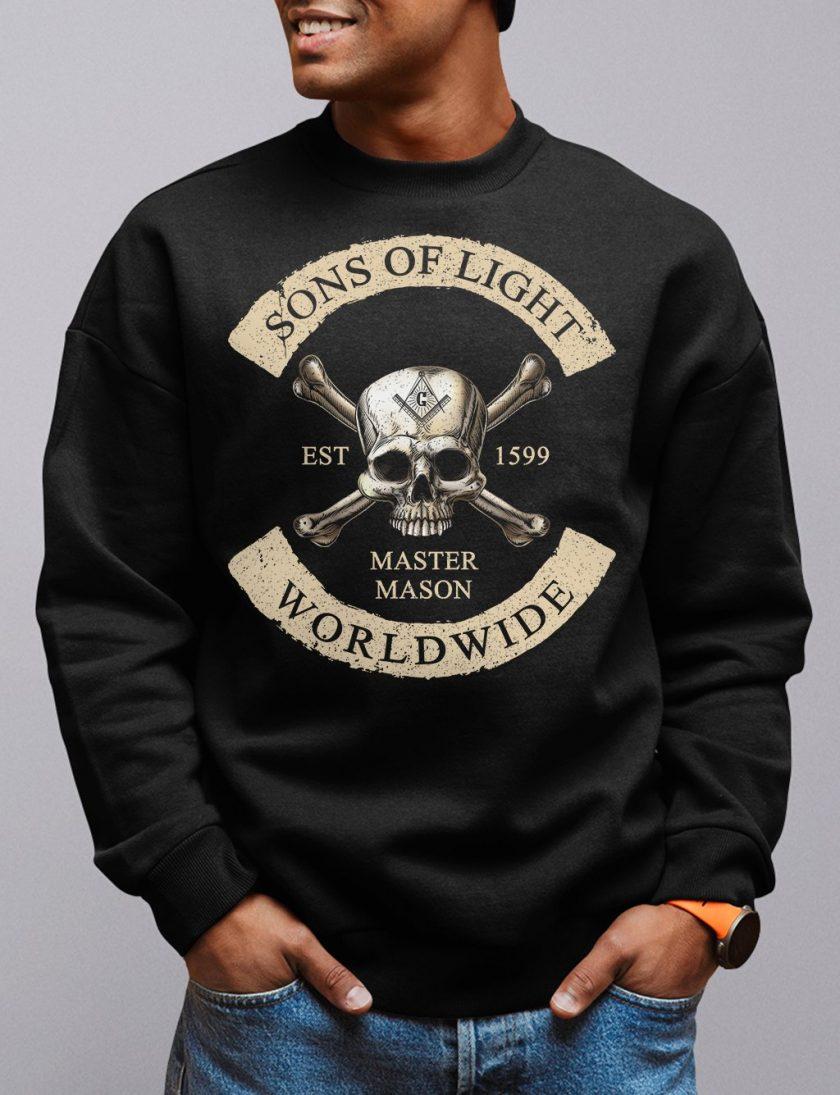 Son Of Light Worldwide Masonic Sweatshirt sons of light black sweatshirt