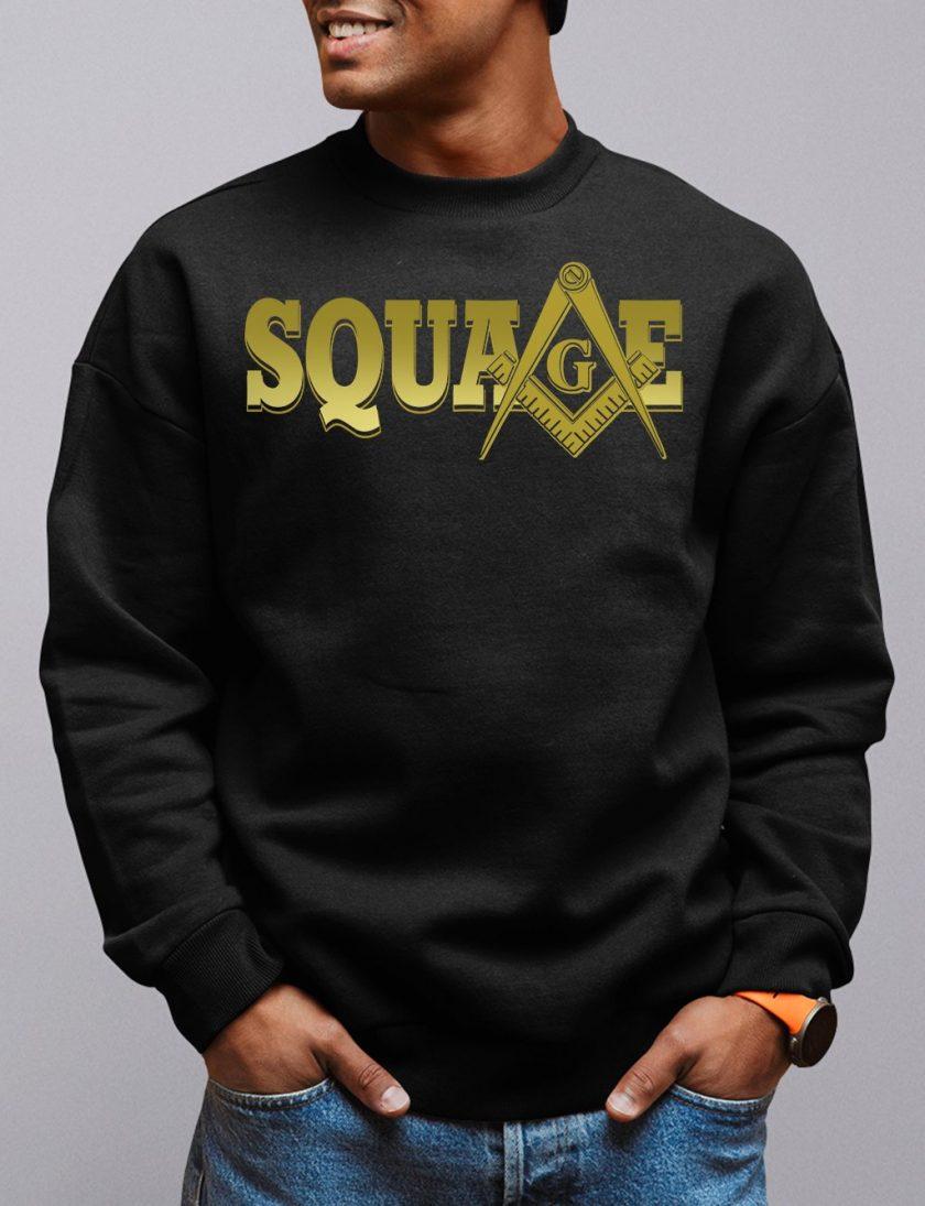 square black sweatshirt