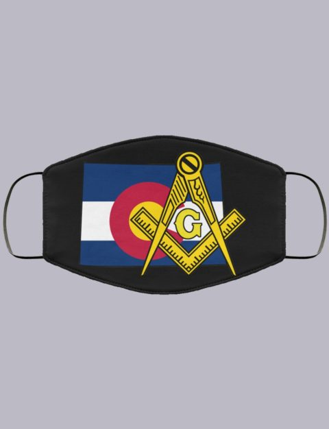 Colorado Masonic Face Mask state5