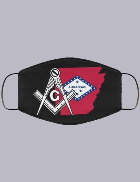 Arkansas Masonic Face Mask state91