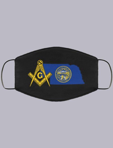 Nebraska Masonic Face Mask state92