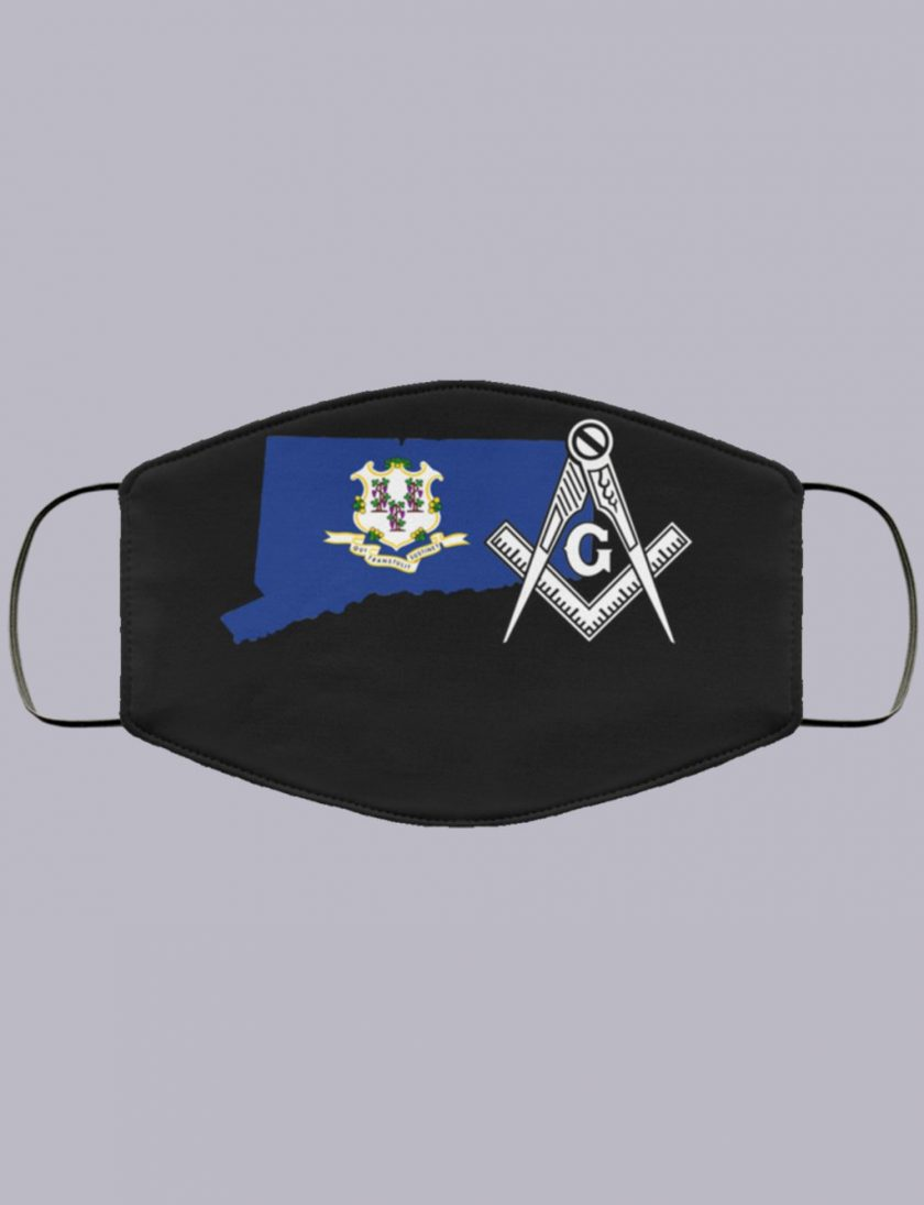 Connecticut Masonic Face Mask state93