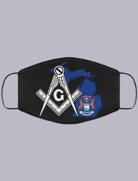 Michigan Masonic Face Mask state94