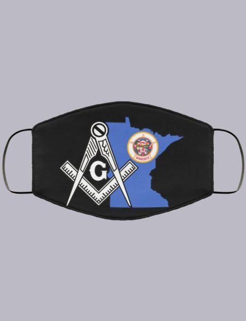 Minnesota Masonic Face Mask state98
