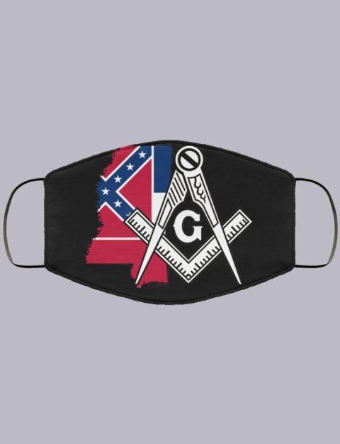 Mississippi Masonic Face Mask state990
